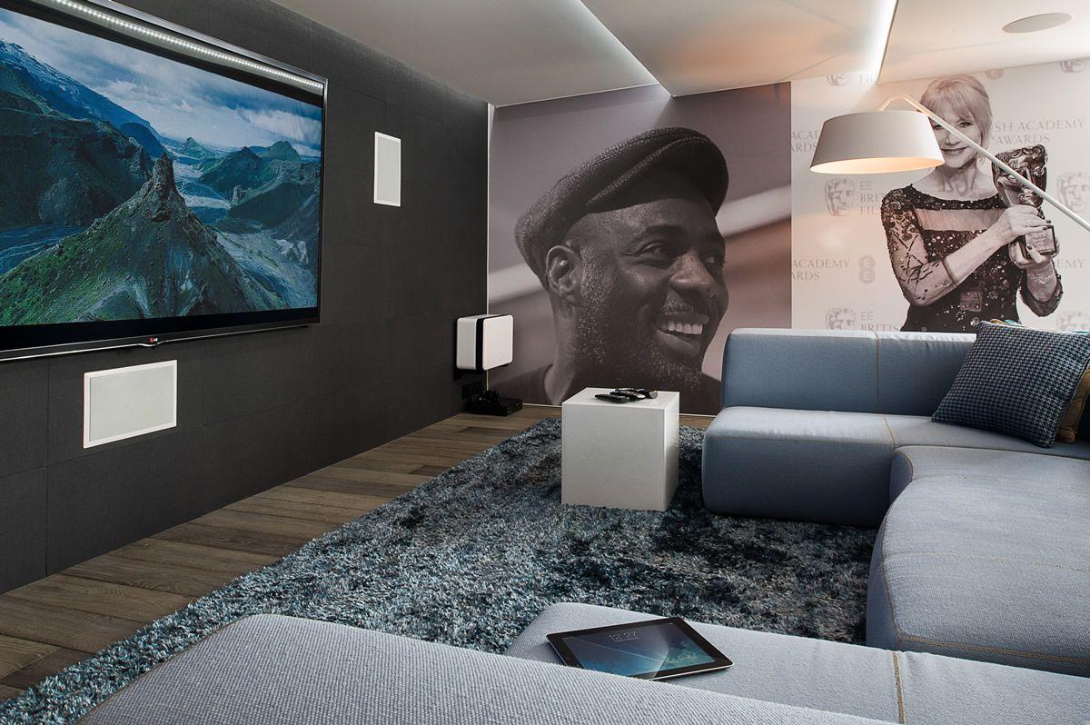 le home cin ma cr e un d cor avec la toile tendue clipso. Black Bedroom Furniture Sets. Home Design Ideas