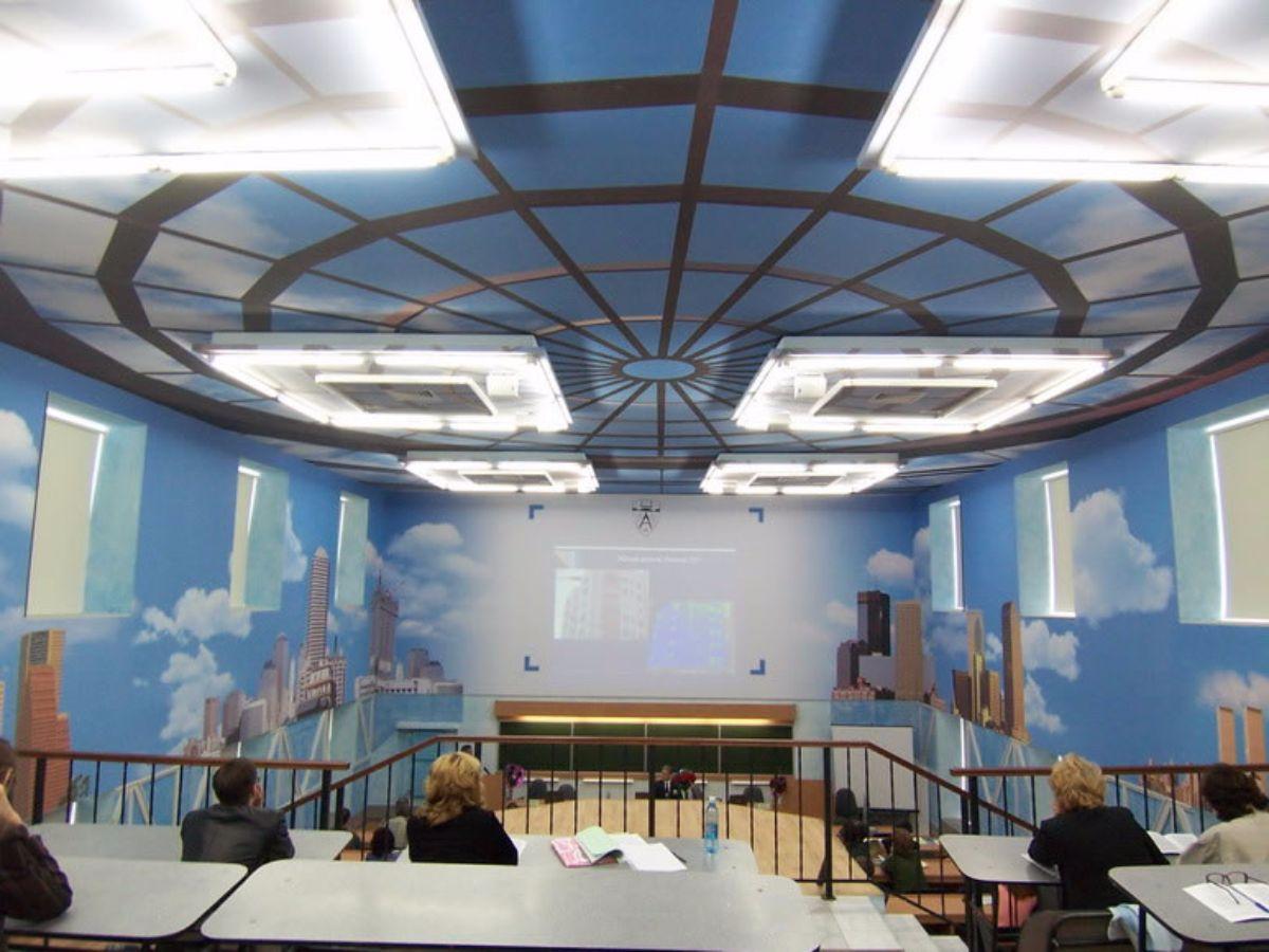 plafond r tro clair clipso fabricant de murs et plafonds tendus. Black Bedroom Furniture Sets. Home Design Ideas